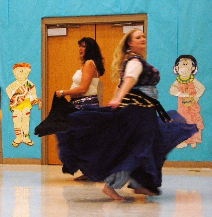 Oh, the fun of dancing in a 25 yard skirt!
